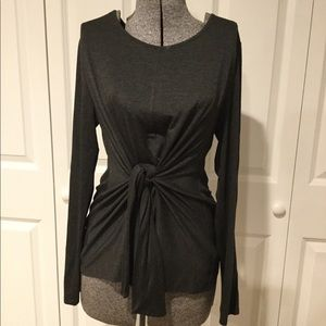 Cable & Gauge Front Tie Top Size Large